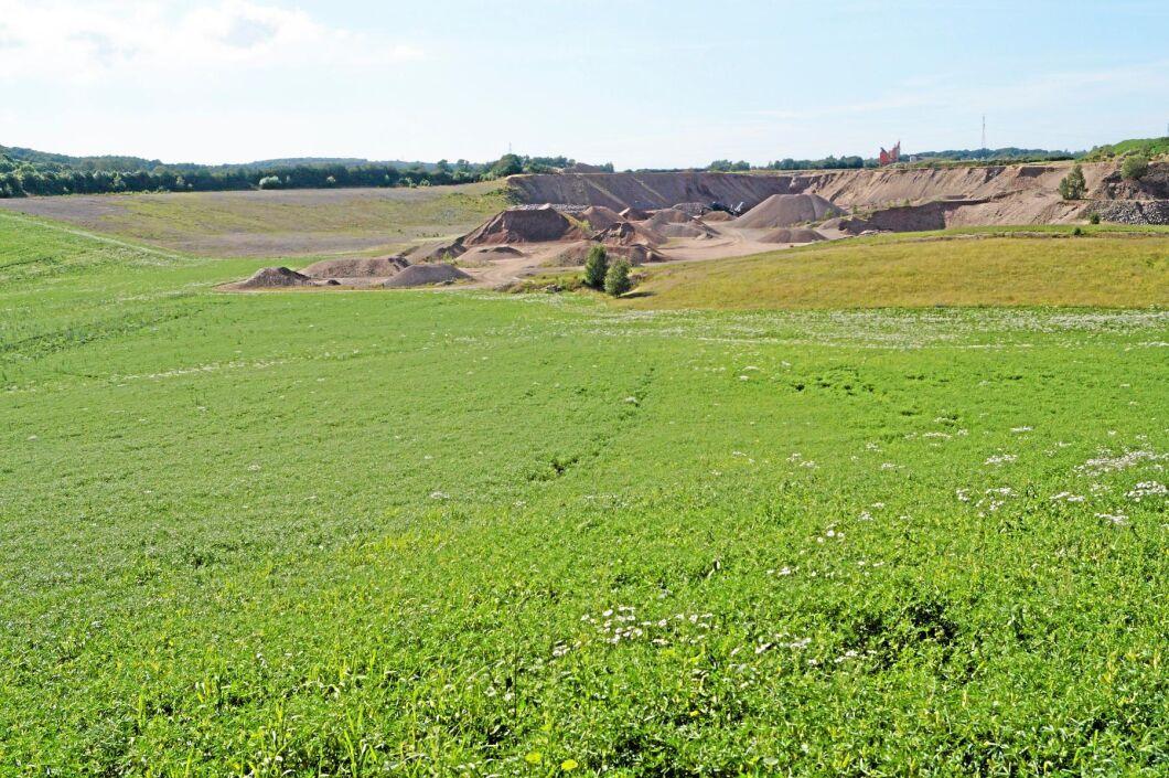 Lupinfältet har tidigare varit grustag.