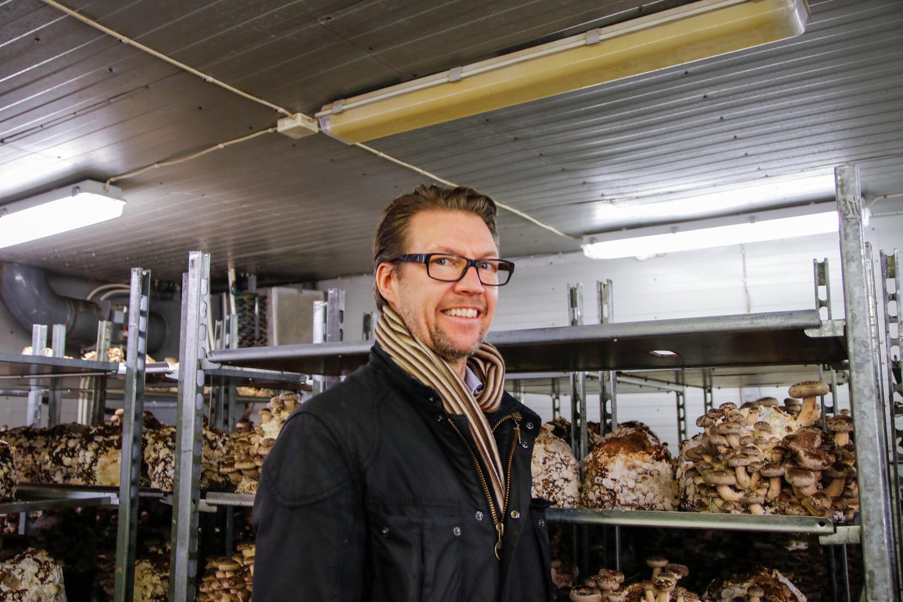 Svensk Ekosvamp odlar ekologisk svamp och priset är högre än den konventionellt odlade importerade svampen. Men vd Martin Rosvall Hansson tror att konsumenterna är villiga att betala mer för ekologisk svamp och den kvalitetsstämpel som kommer med svampen.