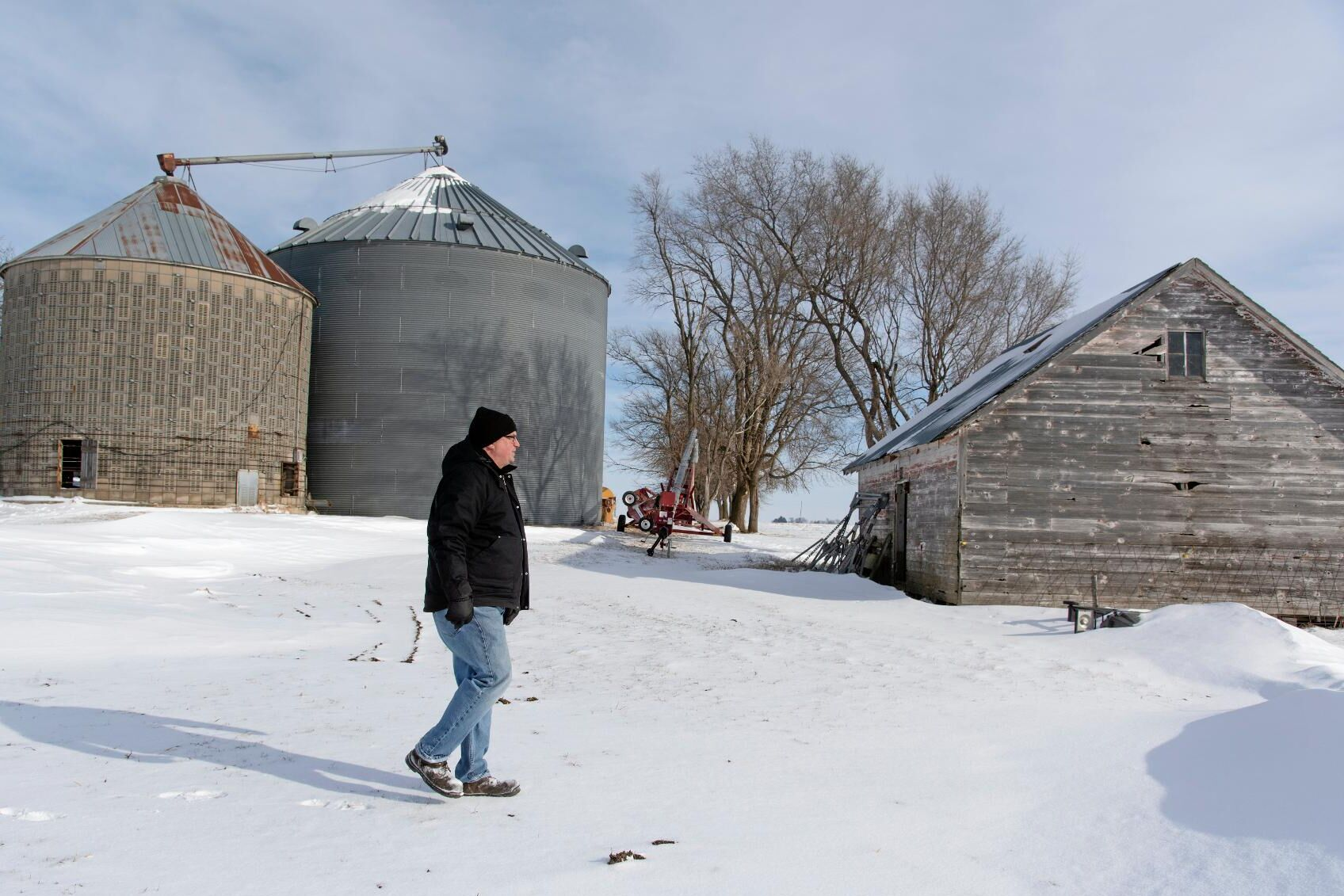 Aaron Lehman är femte generationen jordbrukare på familjegården i Iowa. Men handelskriget med Kina får honom att tveka inför framtiden.
