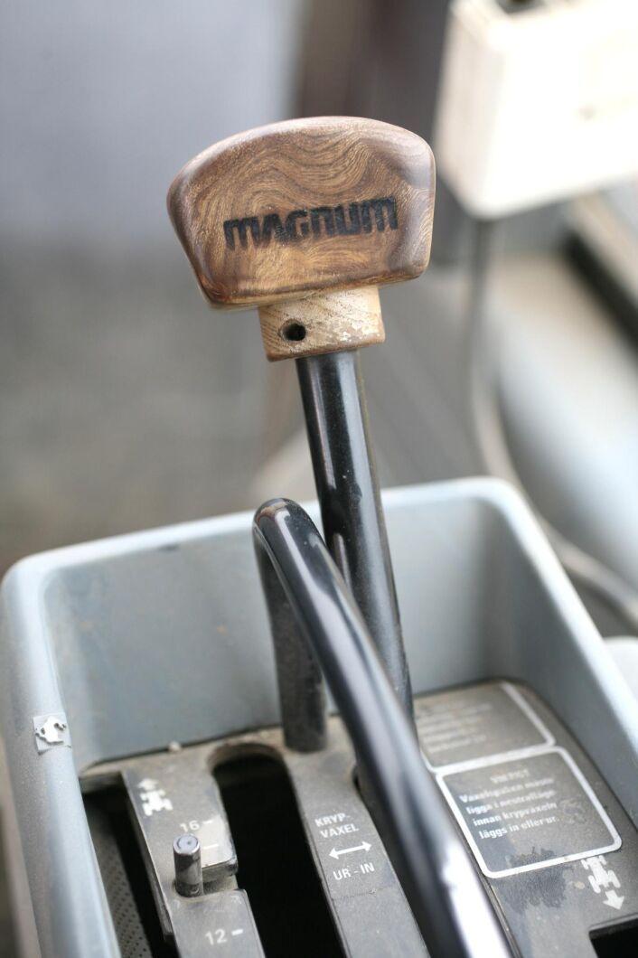 Powershiftsspaken har en träknopp med namnet Magnum inbränt. Kan det bli coolare?