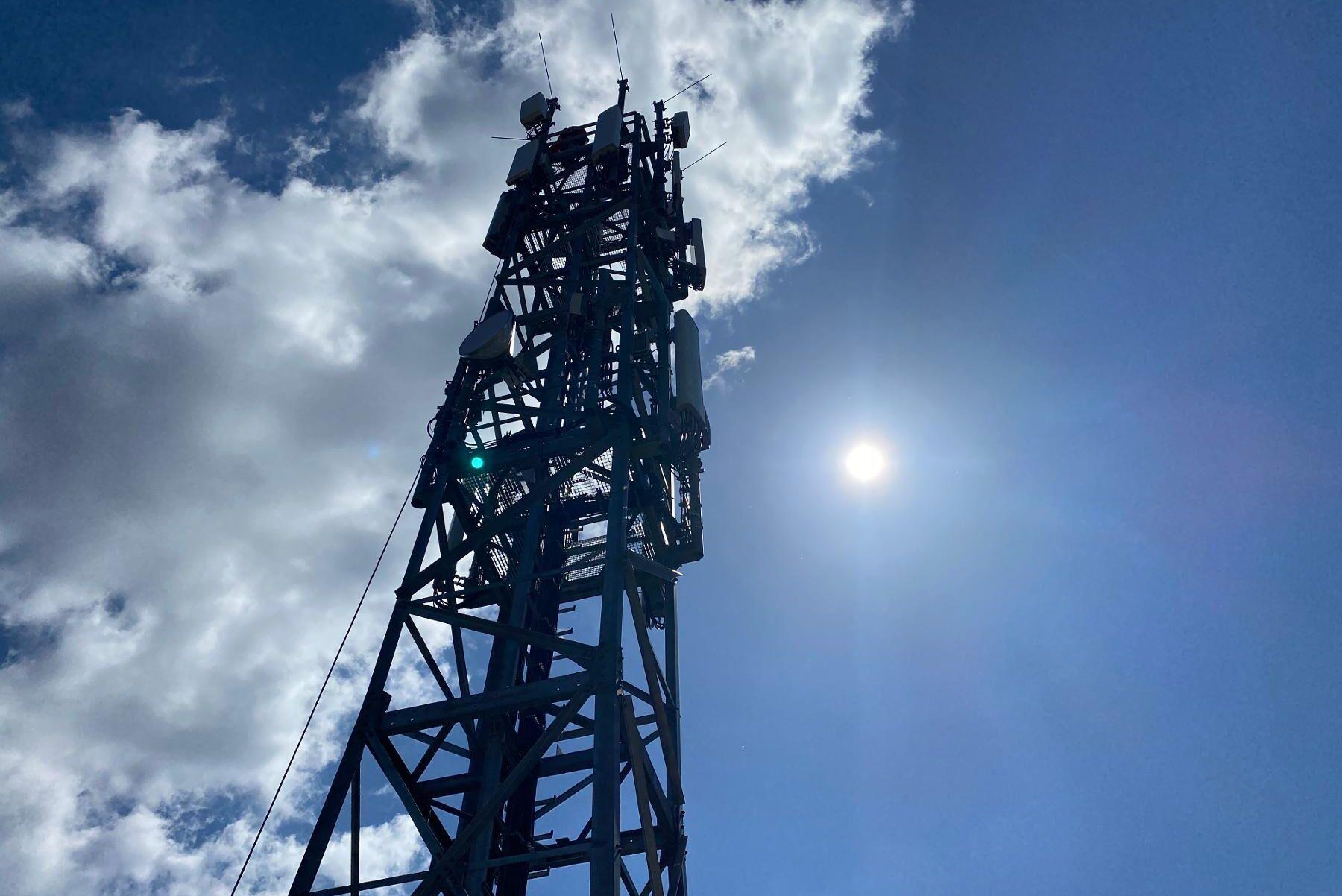 Mobilmast för 5G-nät.