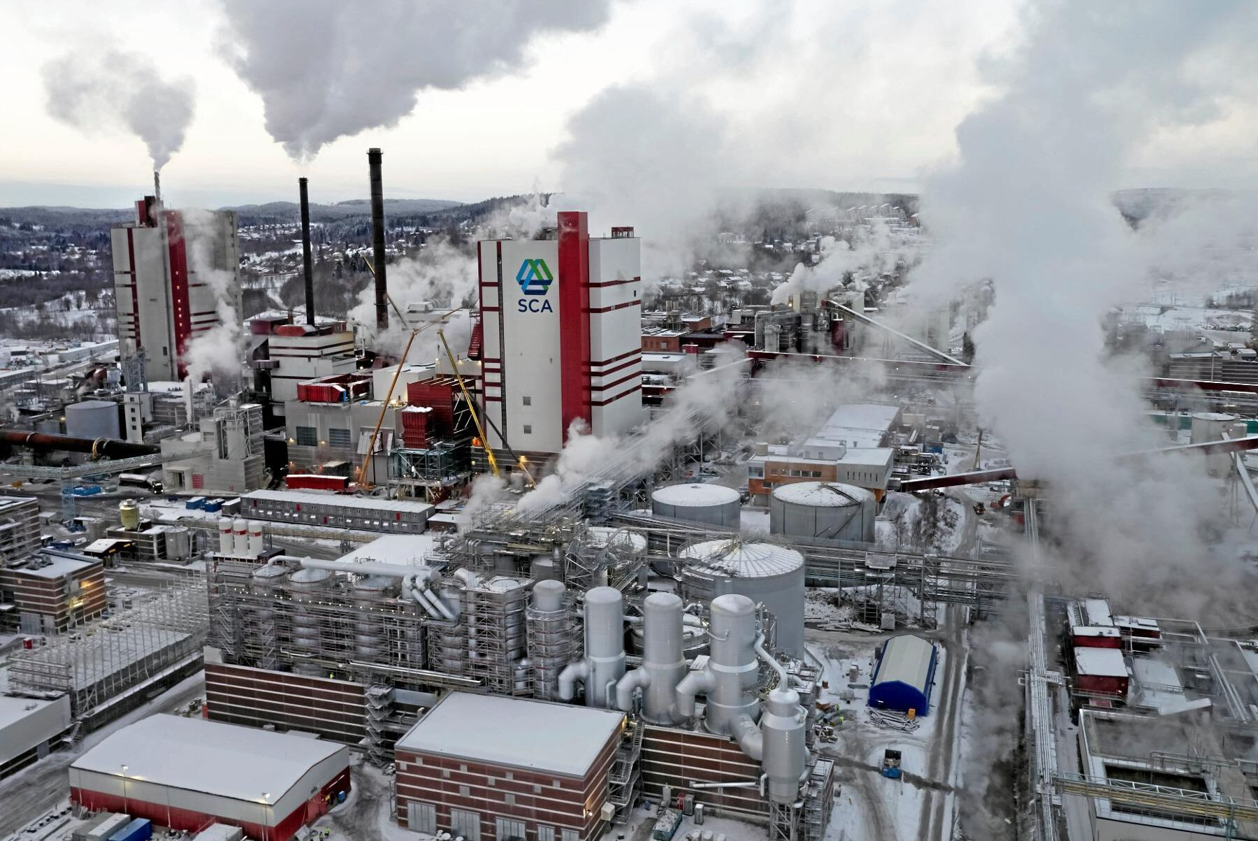SCA:s nya massafabrik i Östrand.