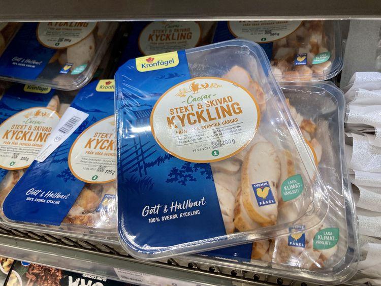 Bild på ett paket kyckling från Kronfågel.