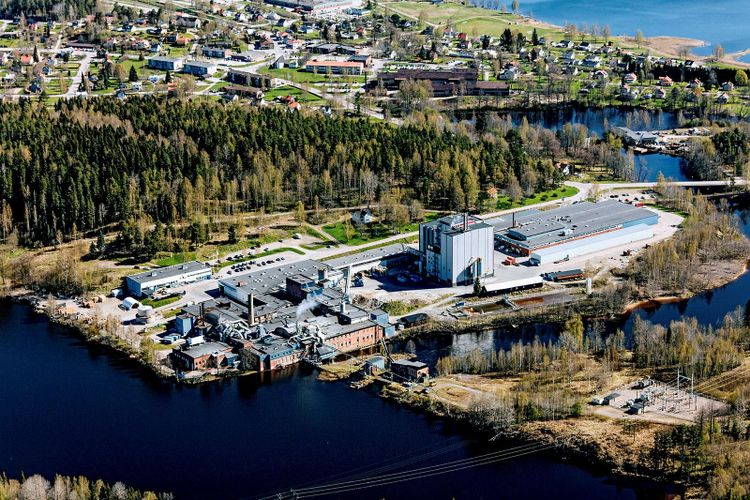 Nordic Papers produktionsanläggning i Åmotofors.