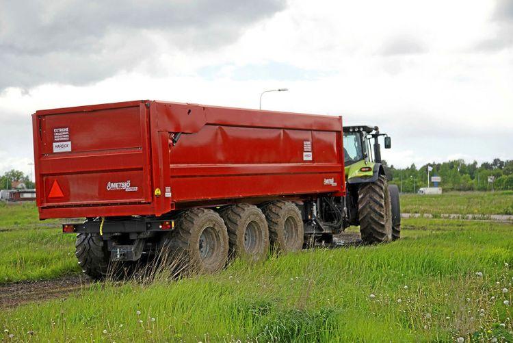 Metsjövagn i JTI-test. Arkivbild.