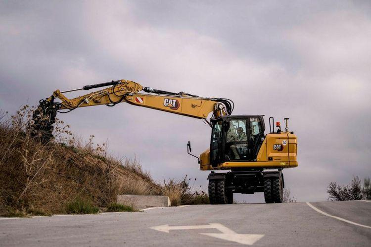 Hjulgrävare från Caterpillar i 20-tons-klassen.