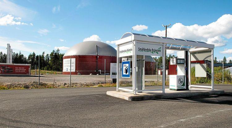 Biogasanläggning i Alvesta som bröderna är delägare i.