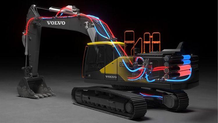 Grävmaskin från Volvo.