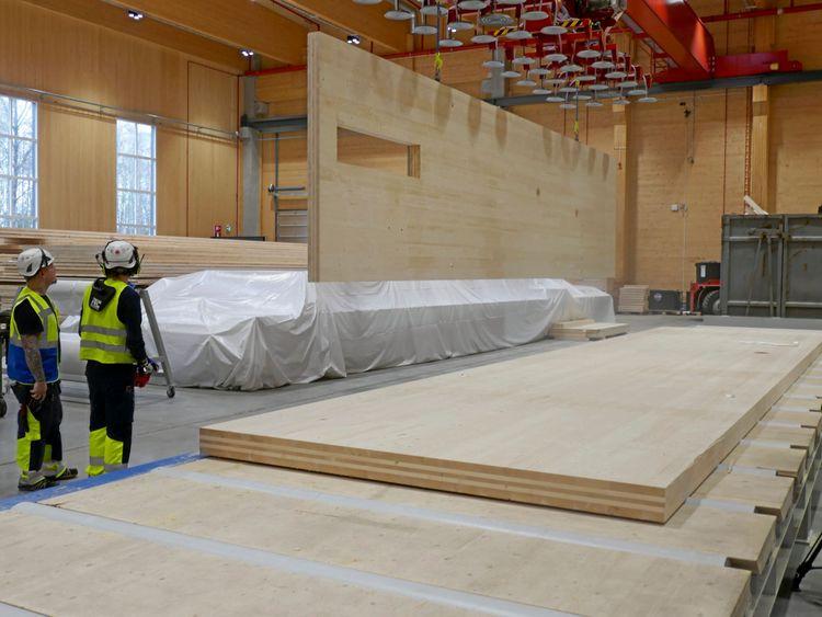 Trä i bärande konstruktioner ökar i Danmark. Arkivbild