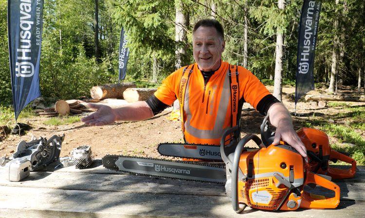 Lasse Strandell, instruktör och produktspecialist på Husqvarna Sverige.