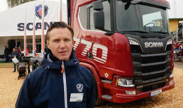 Scanias försäljningsdirektör Niklas Engholm.