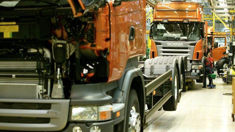 Montering av lastbilar.