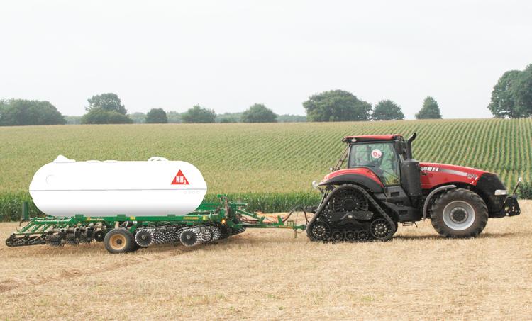 Illustrationen visar hur ett jordbruk på ammoniak skulle kunna fungera.