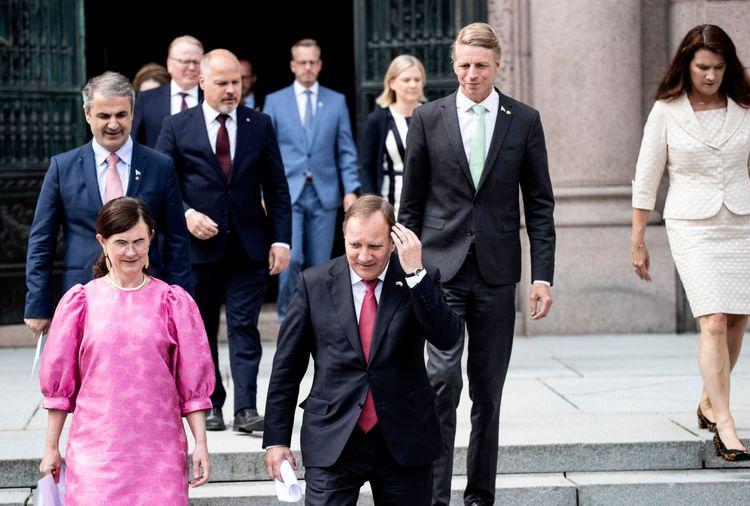 Flera ministrar i regeringen.