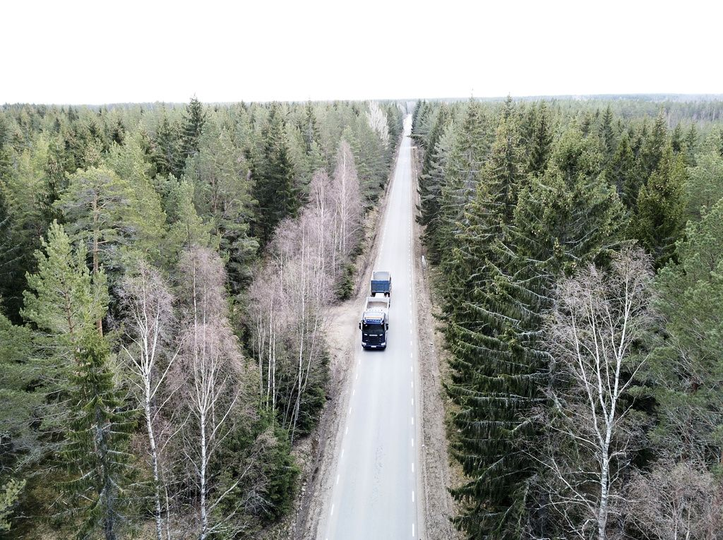 Skogsväg.