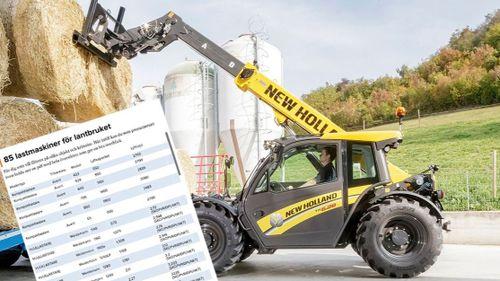 Lista: 85 lastmaskiner för lantbruket