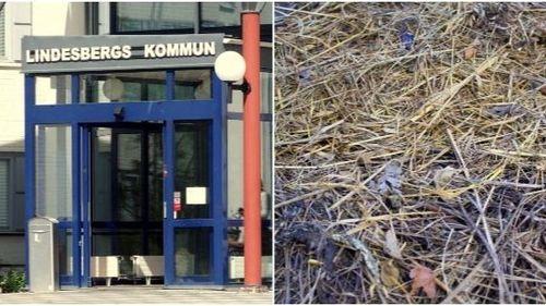 Tvist med kommunen ledde till dumpade höbalar